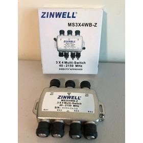 Multiswicht Zinwell Aspen 3x4 Salidas Original Nuevo Tienda