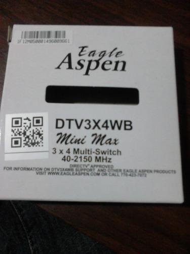 multiswitch 3 x 4 salidas eagle aspen 3x4. nuevo.