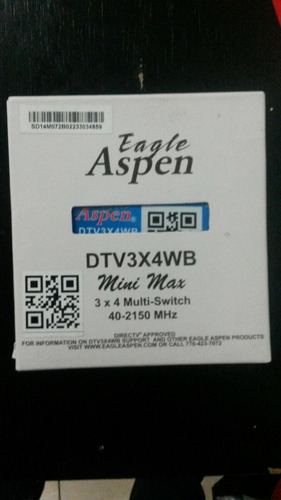 multiswitch aspen eagle 3x4 satelital 4 salidas ofertazo