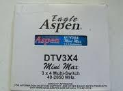 multiswitch de 3x4 salidas para 4 tv original marca aspen