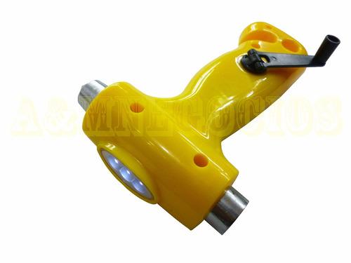 multiuso multifuncion martillo salvavidas con luz dinamo