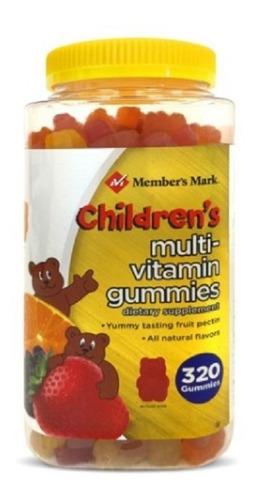 multivitaminas a c d e+ biotin+ zinc  niños 320 gomitas