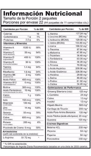 multivitaminico animal pak 44 paquetes universal nutrition