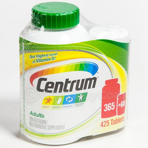 multivitaminico centrum para adulto. 425 tabletas. vitaminas