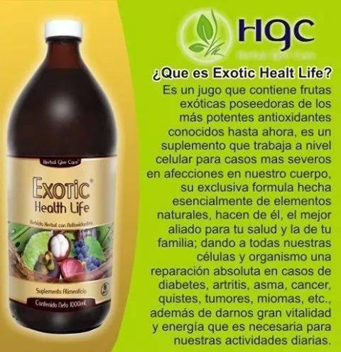 multivitaminico jugo exotic. hgc nutrición natural.