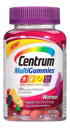 multivitamínico suplemento centrum mulher c/ 70 comprimidos