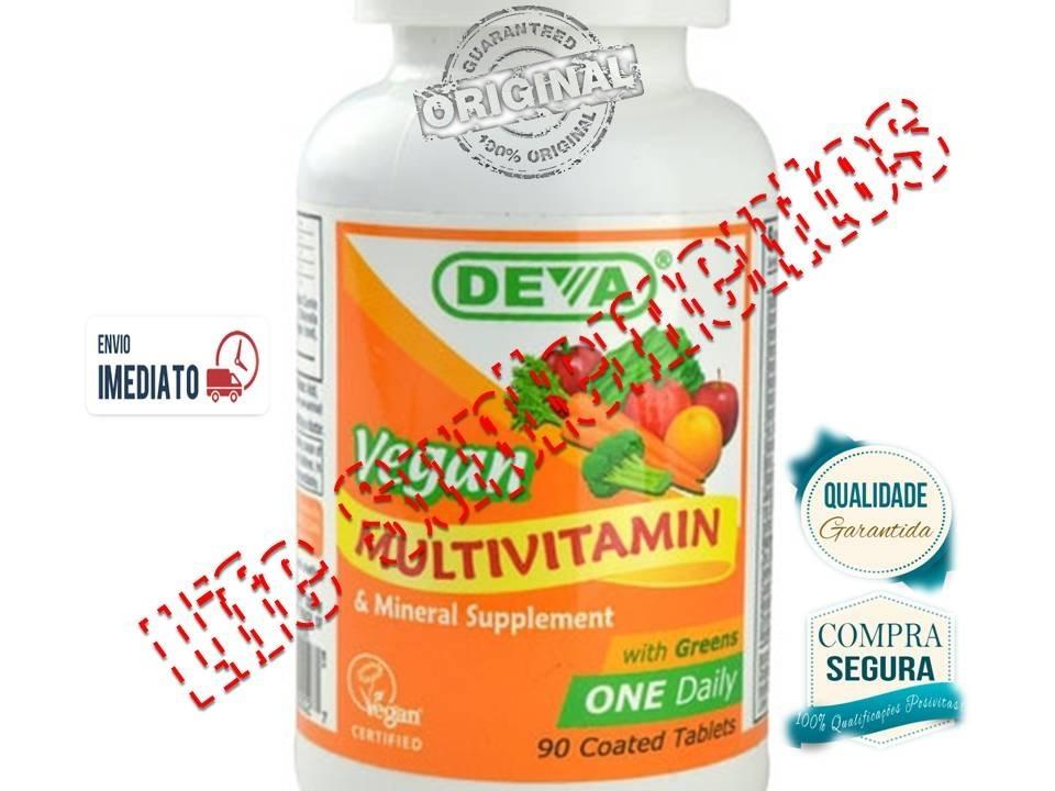 ed1a45257 multivitaminico vegano importado deva 90caps 1 por dia novo. Carregando zoom .
