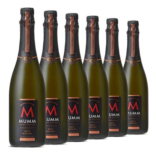 mumm cuvee reserve brut nature caja de 6 botellas de 750 ml