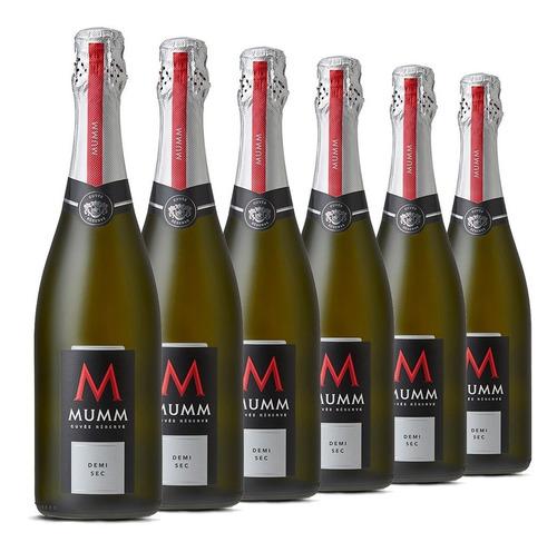 mumm cuvee reserve demi sec caja de 6 botellas de 750 ml