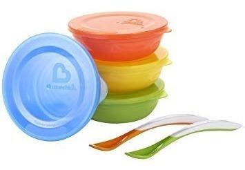 munchkin bowls set de 10 piezas de alimentación bebe