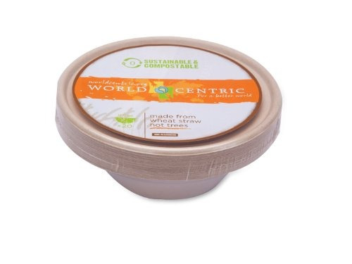 mundial centric compostable 11-1 / 2 onzas bagazo bowl, 20 p