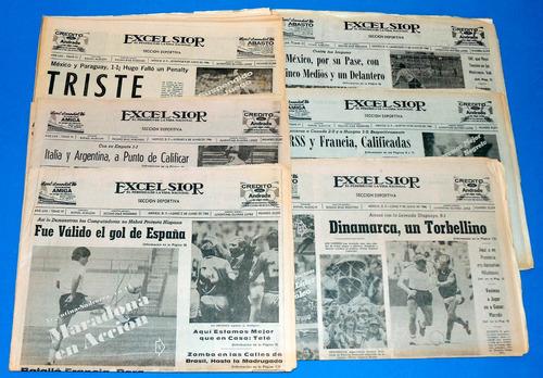 mundial mexico 86, 6 secciones deportivas de excelsior