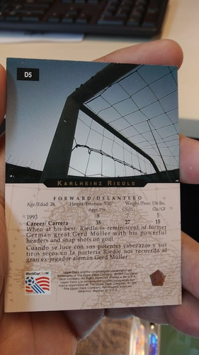 mundial usa 94 // tarjetas upper deck // hologramas alemanes