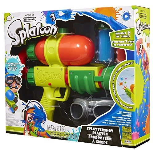 mundo de nintendo splatoon splattershot ink blaster toy