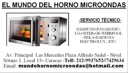 mundo del  microondas- reparación- servicio tècnico