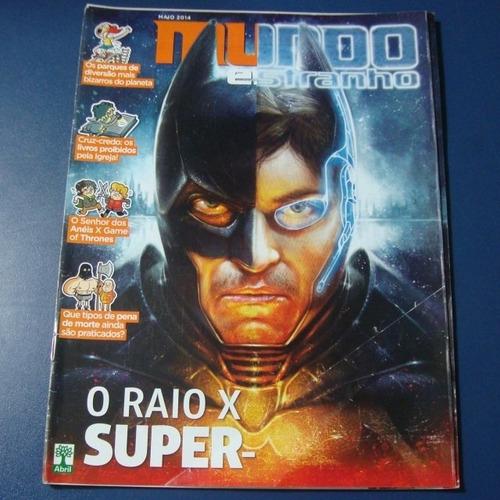 mundo estranho nº 152 - o raio x dos super-heróis