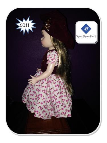 muñeca 15 años o xv, reyes o regalo vestida elegante para ti