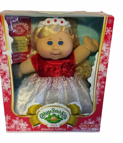 muñeca 2014 holiday cabbage patch kids doll limited edition
