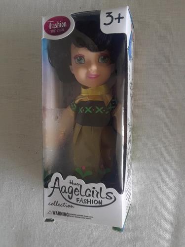 muñeca angel girls vestido verde