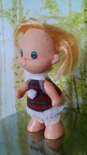 muñeca antigua de caucho niña besitos coleccionistas vintage