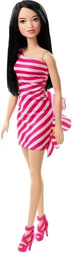 muñeca articulada barbie glitz vestido fiesta tacos altos