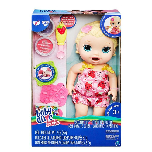 muñeca baby alive snaking lily come y hace popo