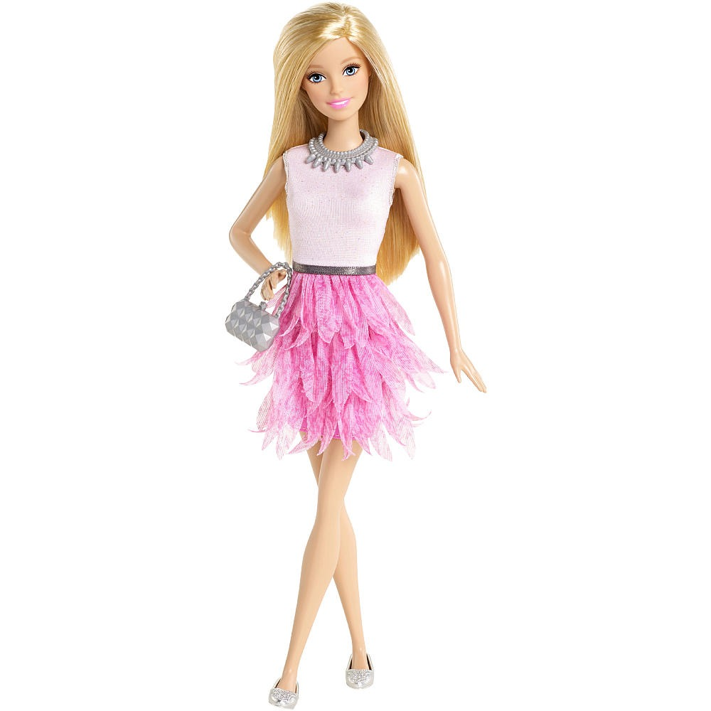 Barbie fashionistas mu eca barbie vestido rosa con - Image de barbie ...