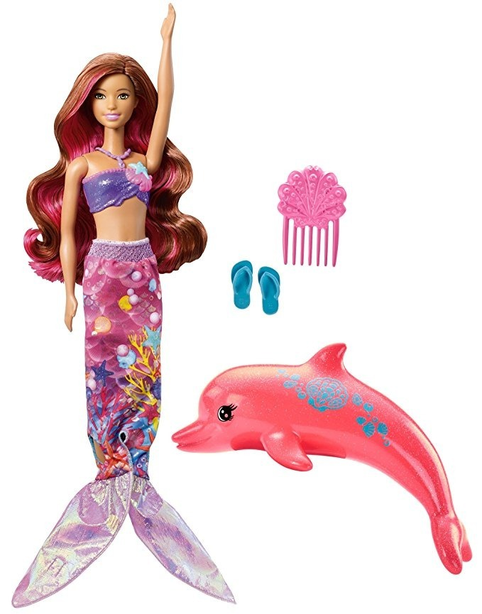 Muñeca Barbie Delfín Mágica Que Se Transforma En Sirena - $ 132.864 ...