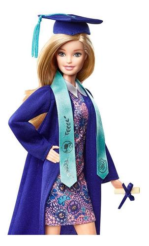 muñeca barbie graduación blonde  2018 mattel colección