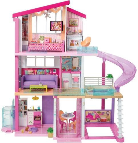 muñeca barbie la mega casa de los sueños con elevador