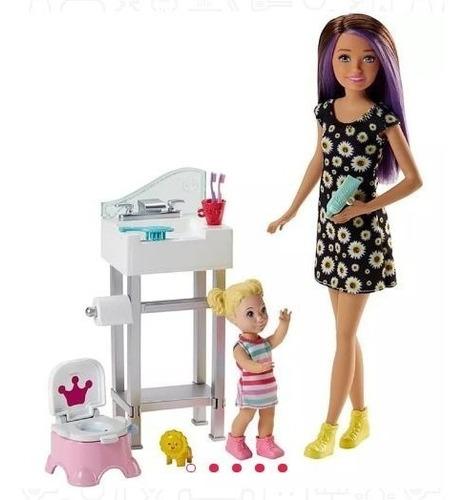 muñeca barbie niñera skipper fjb01 mattel juguete muñecas