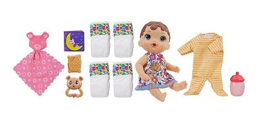 muñeca bebe baby alive hasbro lista para dormir + accesorios
