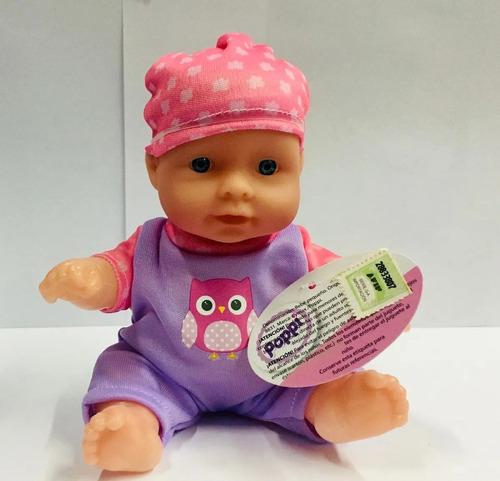 muñeca bebe bebote poppi cuerpo duro 20cm 8831 educando