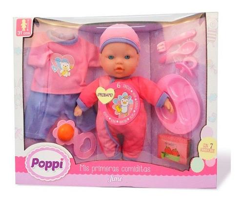 muñeca bebe bebote poppi mis primeras comiditas 16013 full