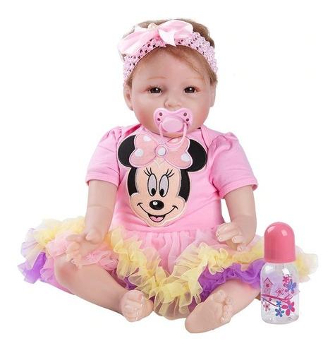 muñeca bebé niña realista 55 cm entrega inmediata!.