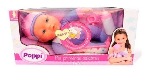 muñeca bebe poppi mis primeras palabras babymovil 16007