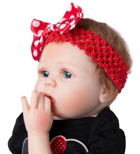 muñeca bebé realista niña 55 cm envío inmediato!
