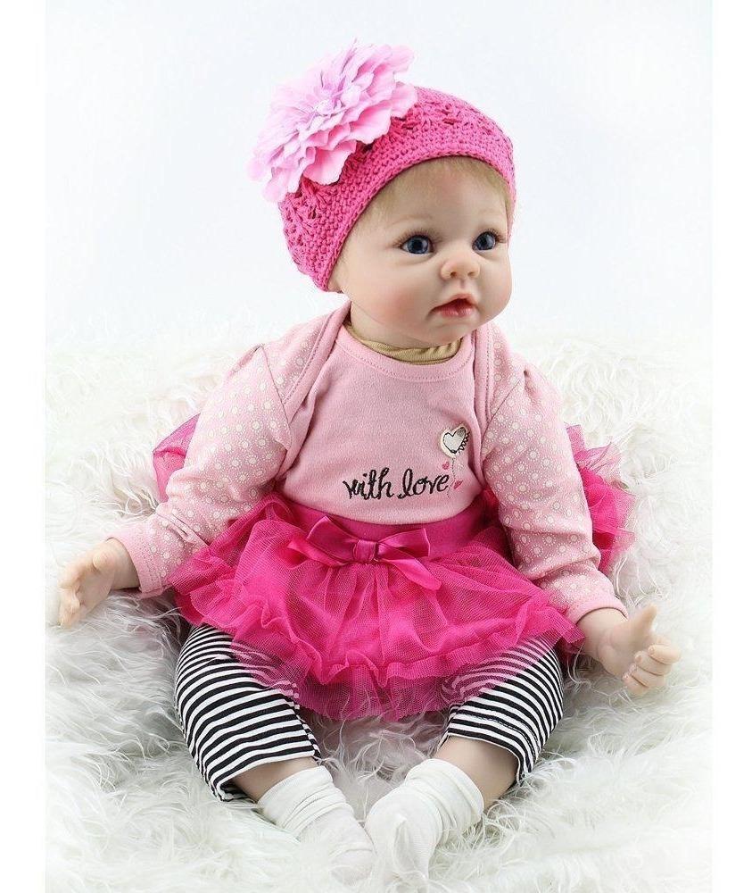 e8218396c2eb muñeca bebe recien nacida 22 pulgadas realista de silicona s. Cargando zoom.