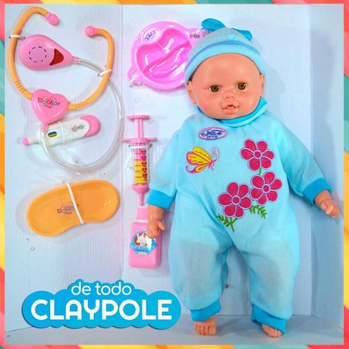 muñeca bebote cariñito va al doctor - 44 cms c/ accesorios