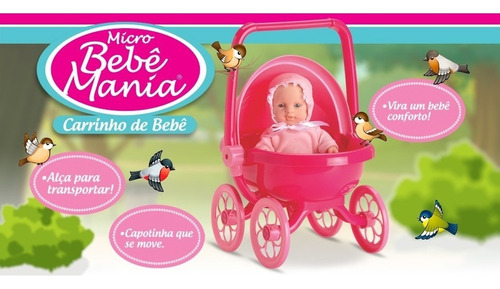 muñeca bebote con cochecito y moises desmontable roma 5359
