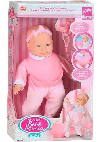 muñeca bebote con la mamadera babero apretas la panza babea