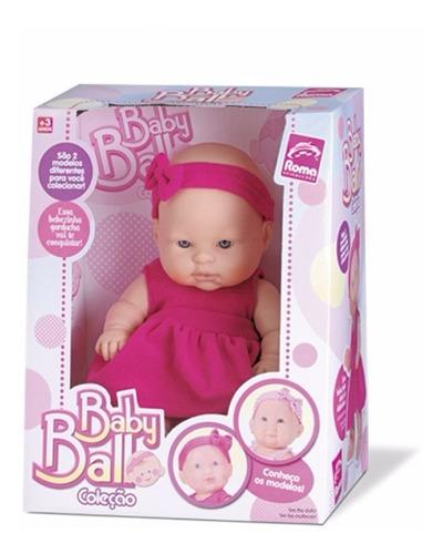 muñeca bebote con vincha baby ball boca abierta 24 cms
