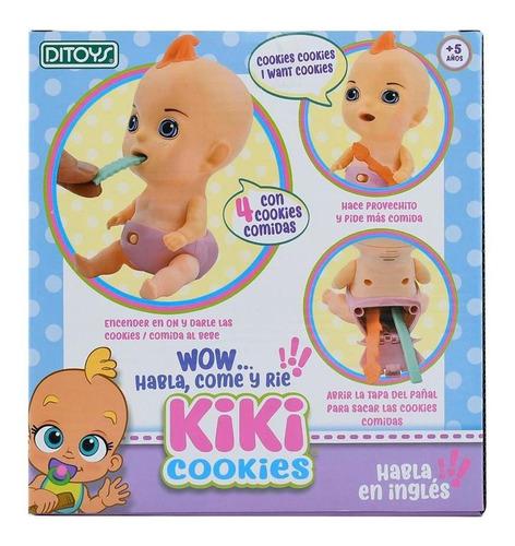 muñeca bebote kiki cookies ditoys interactiva habla come rie