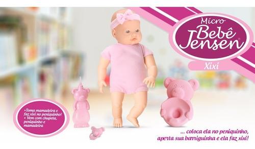 muñeca bebote xixi hace pis mamadera pelela 21cm 5233