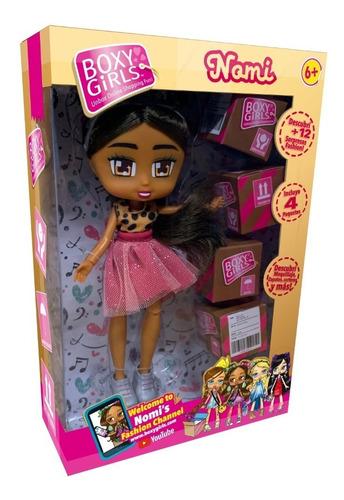 muñeca boxy girls brooklin incluye 4 paquetes con accesorios