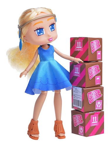 muñeca boxy girls incluye paquetes con accesorios sorpresa
