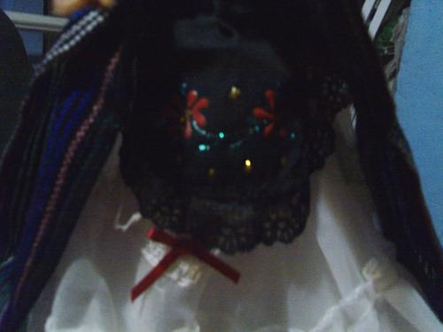 muñeca  con traje jarocho tipico artesanal