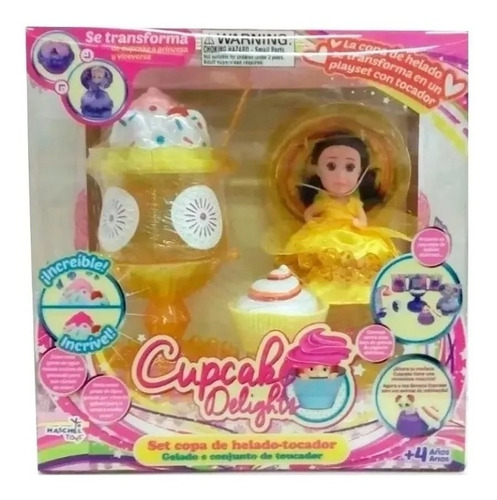 muñeca cupcake delights play sets