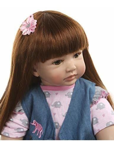 muñeca de bebe de 240 en vinilo de silicona suave de algodon