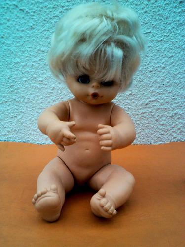 muñeca de goma años 70s. exelente estado